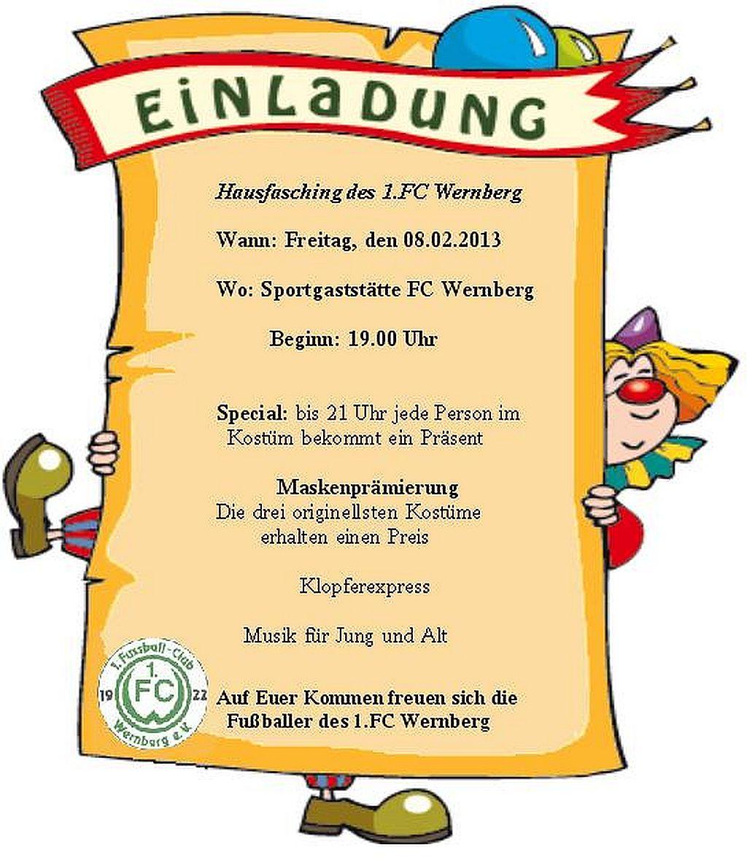 Hausfasching beim FC Wernberg