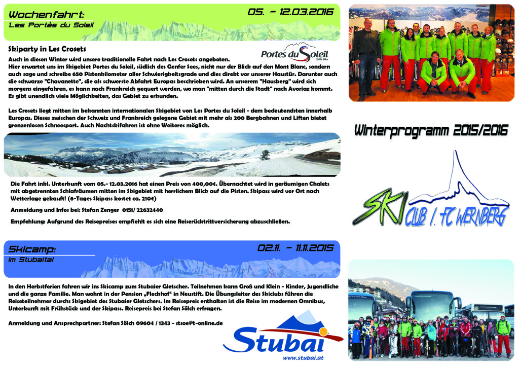 Skiclub Flyer 1 - 2015